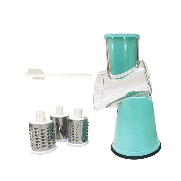 Multifunction manual rotary fruit and vegetable slicer