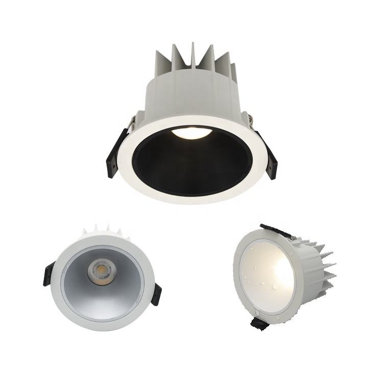 IP66 outdoor ceiling anti glare lighting lamp 10W 12W 18W 20W 30W 35w 40W dimmable cob IP67 waterproof downlight ip65 recessed