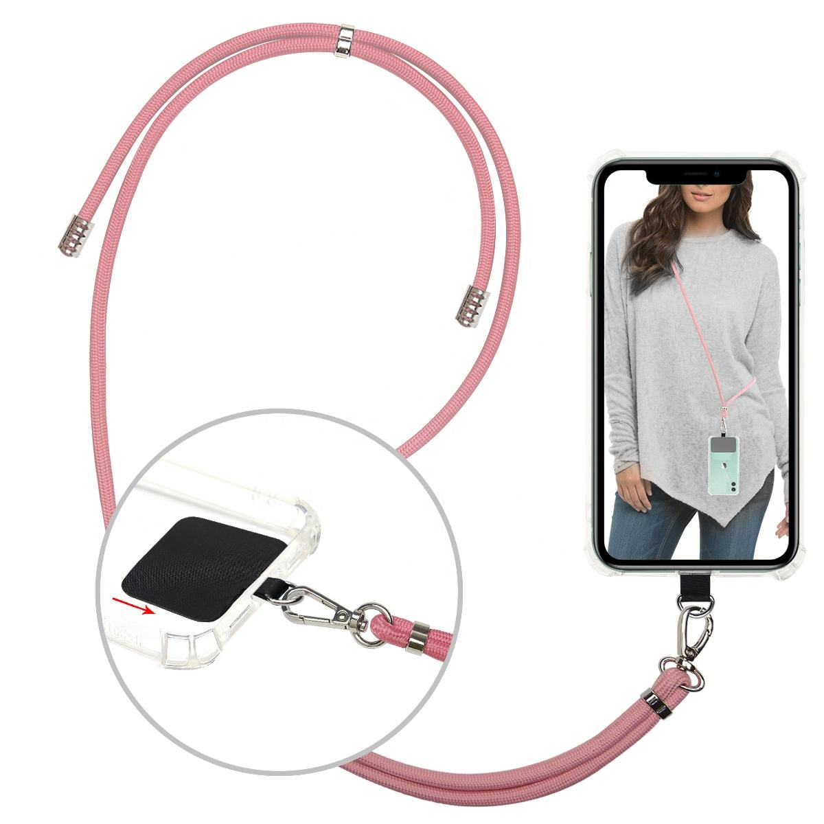 Universal Crossbody Phone Lanyard nylon straps with buckle, Adjustable Nylon Neck Strap Necklace Phone Rope for Smartphone