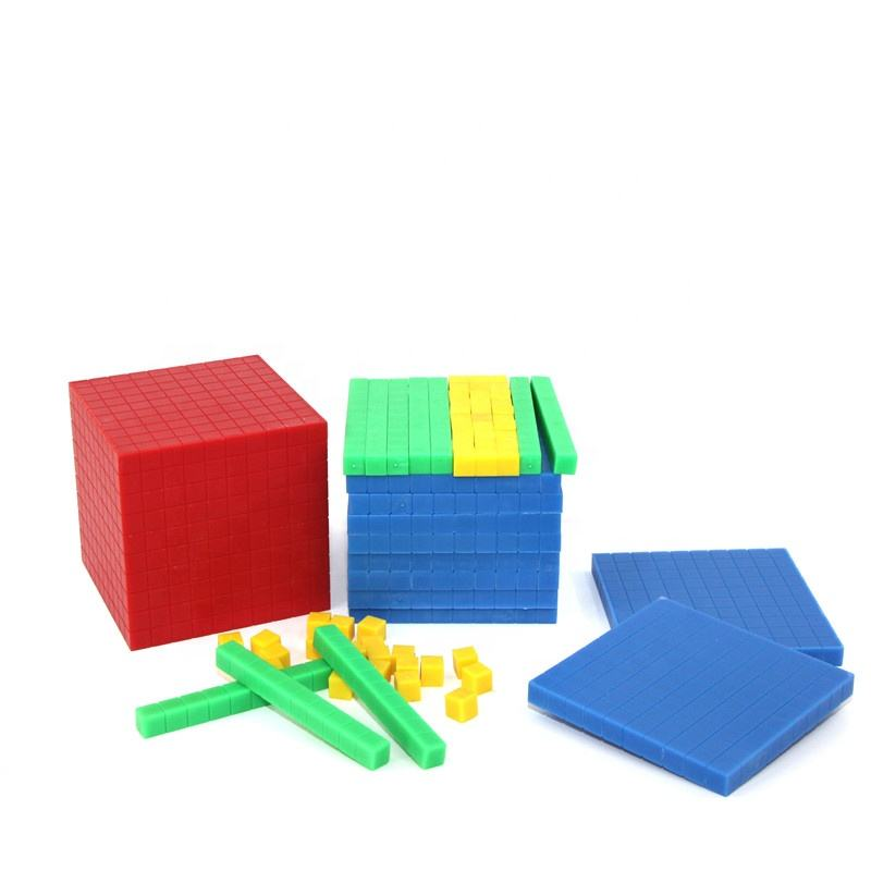 Educational Toy Blocks Plastic Counting Cubes Maths Cubes Square Multibase