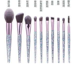 10pcs Synthetic fiber custom makeup brush kit high quality professional cosmetic private label make-up makeup brush set