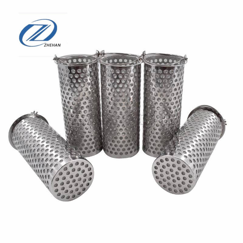 Ss Perforated Metal Filter Cylinders / Sintered Stainless Steel 316 Wire Mesh Tube