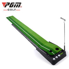 PGM 2.5M/3M golf putting mat putting trainers golf mats with Automatic ball return track & barrier
