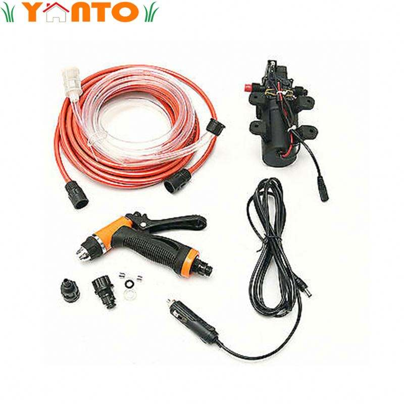 12V Portable Electric Car Washer 100W 160PSI High Pressure Car Auto Wash Pump Set
