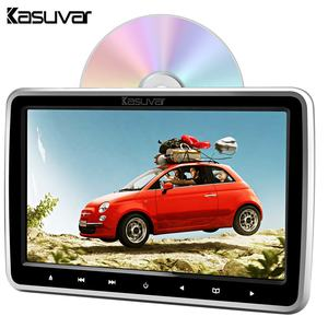 Kasuvar Universal DVD Pemain Game 10.1 Inch Headrest dengan USB/SD/Radio Mobil Video Player Stereo Audio