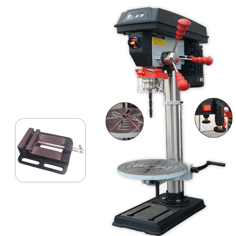 16 millimetri 750W laser industriale panchina drill press con 4 pollici a schermo piatto pinze
