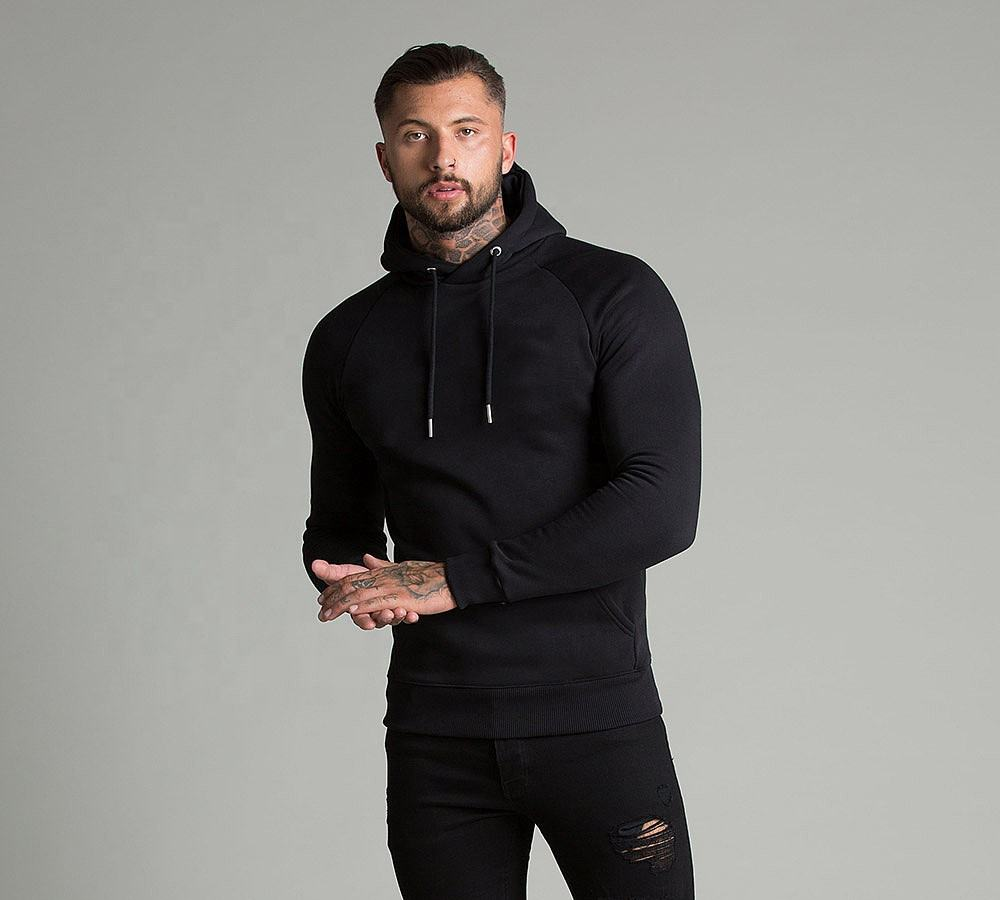 Super high quality hoodies for men soft thick fleece blank hoody