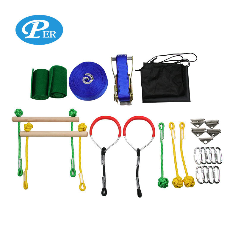 Obstacles training equipment slackline kit obstacle course for backyard park party outdoor play