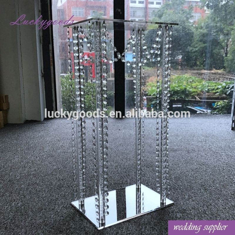 LDJ567 wedding event favor rectangle crystal acrylic centerpiece for table center decoration
