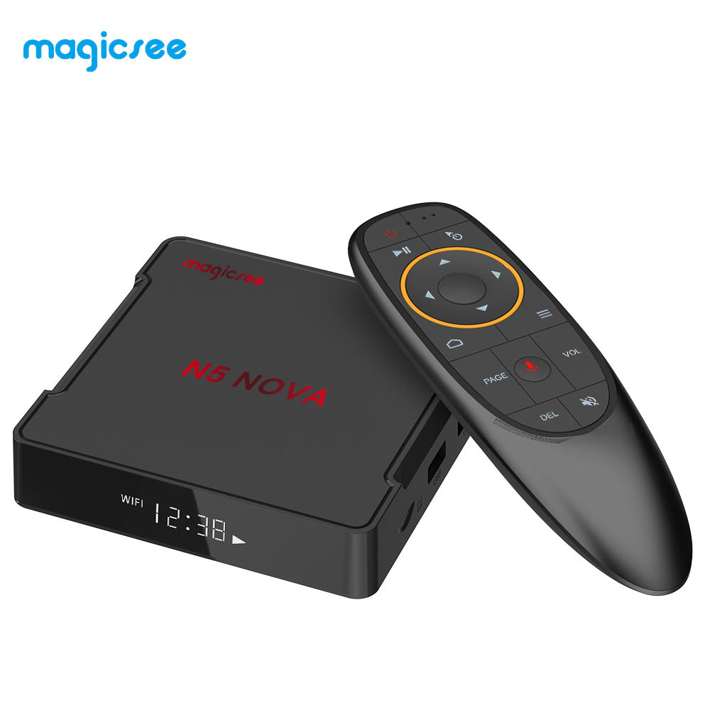Magicsee N5 NOVA RK3318 android 9,0 pantalla LED tv box USB 3,0 4g 32g android IPTV internet caja de tv