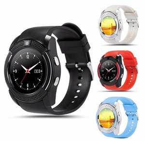 2020 Christmas Gift Hot Sale V8 Original Smart Watch Full Circle Card Phone Sleep Pedometer Smart Watch Ring
