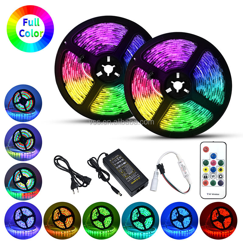 5Meter Magic 5050 RGB Digital LED Strip with Controller and Power Supply