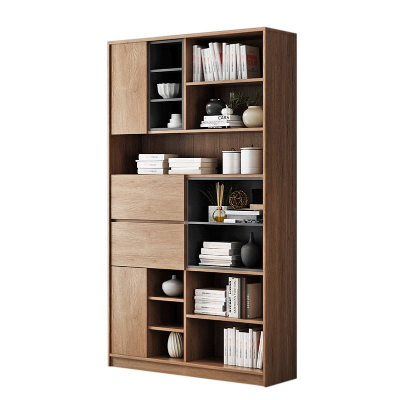 wooden modern living room home office bookcase