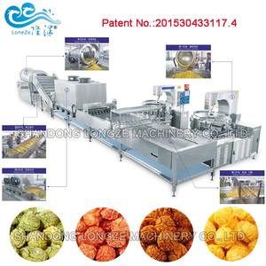 CE approved industrial commercial electric popcorn machine production line snack food processing line cheap price