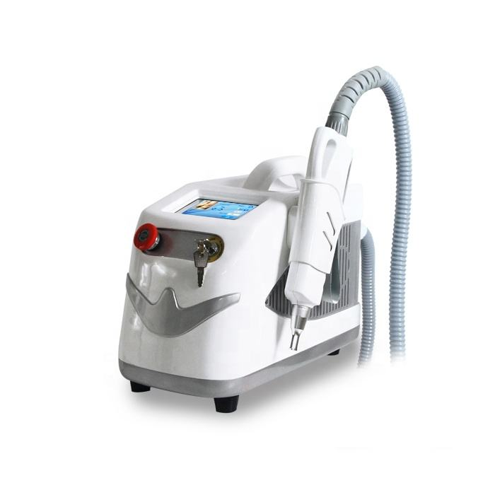Portable tattoo removal q switched nd yag laser