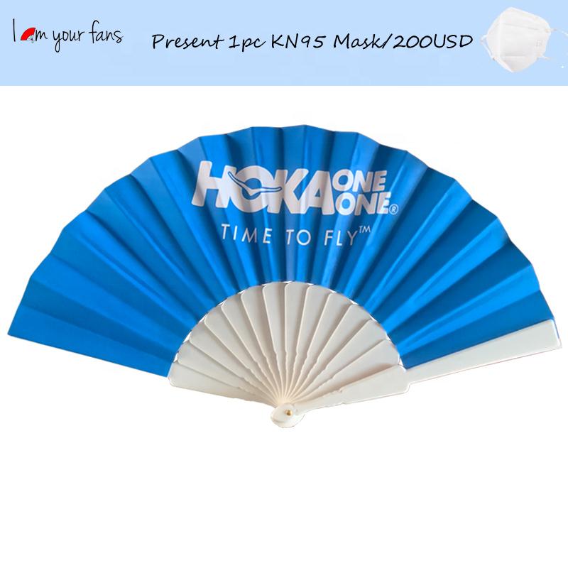 new product ideal 2020 frame uv printer blank handle pp ad promotional custom plastic sticks wedding paper folding hand fans
