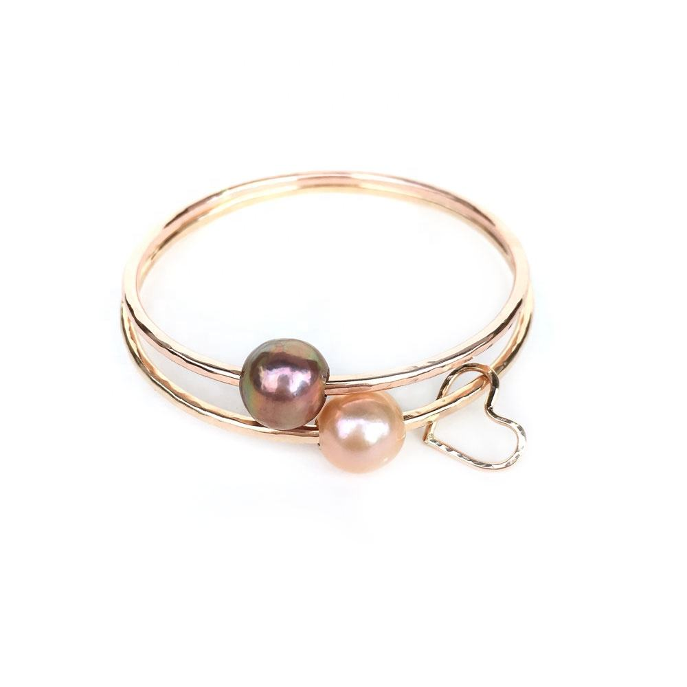 Customized Gold Plated Fashion Hawaiian Aloha pearl bangle for women
