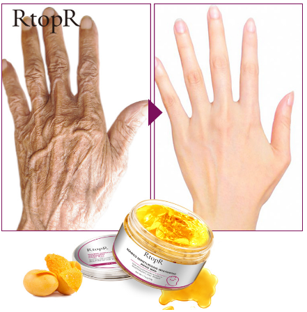 2019 50g hot mango whitening skin hand mask repair exfoliating calluses moisturizing mango hand wax