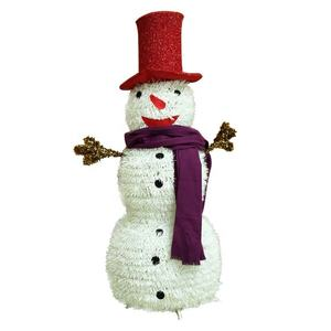 Amazon top seller 2019 best price tinsel outdoor and indoor christmas snowman decor
