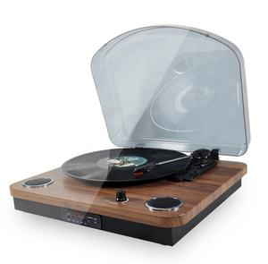 Audmic Modern Retro Electric Vinyl Record LP Player Vintage Turntable with speakers