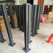 Semi Frameless Aluminum Post Balustrade Glass Fencing