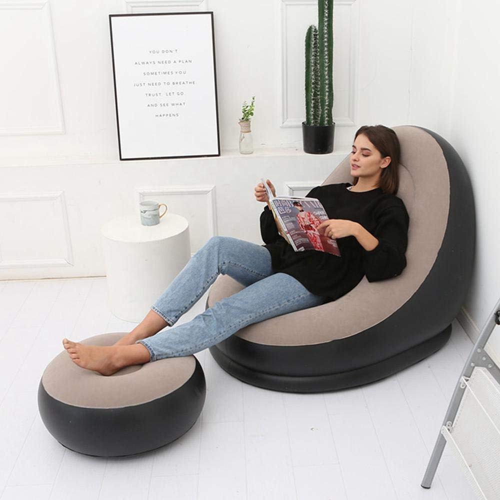 Customized PVC Lazy Leisure Style Lounge Event Sofa with stool Gas-Filled Chair Modern Inflatable sofa