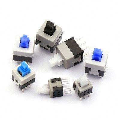 Pushbutton Key Self-Locking Non-Locking Switch 5.8 7 8 8.5 * 8.5MM 10pcs