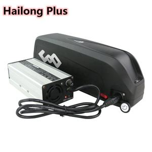 Newest big capacity 10S8P 13S6P Hailong down tube 36V 48v 21ah ebike battery with charger