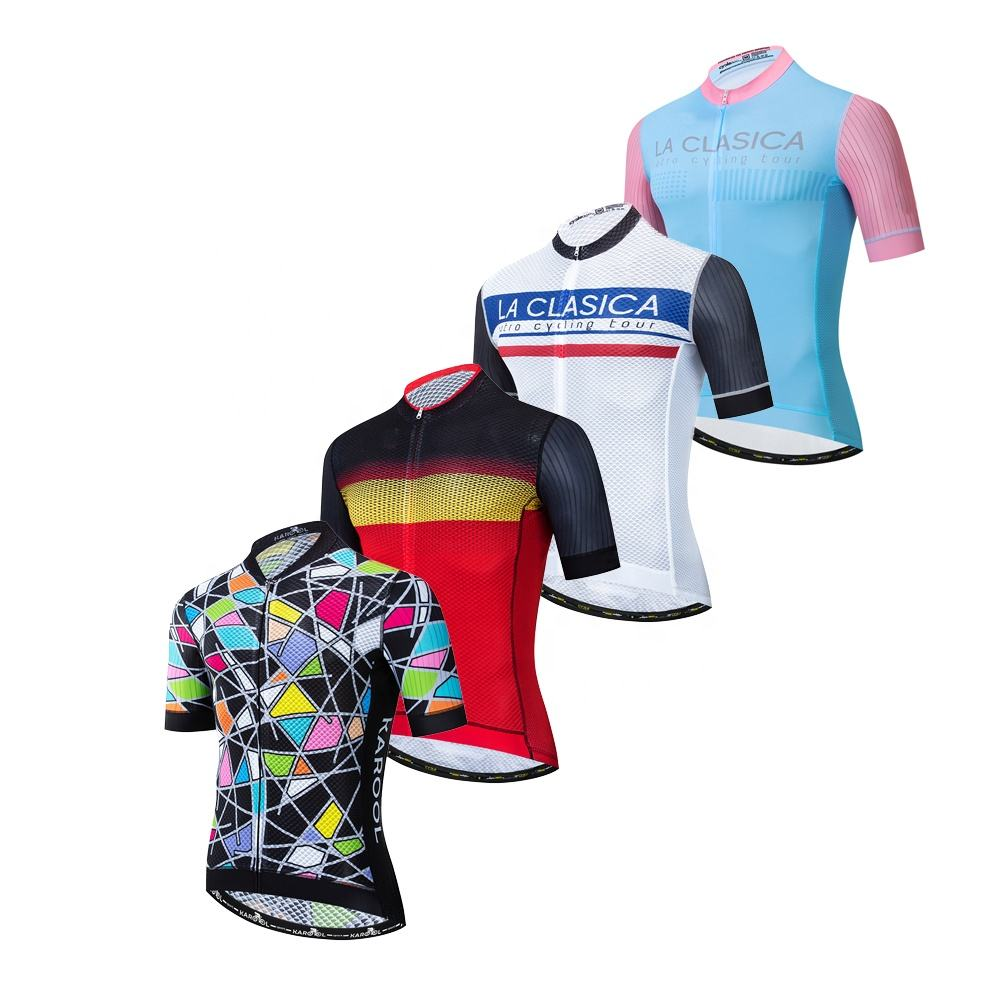 OEM Durable Cycling Jersey Outdoor Summer Bicycle Wear Cool Fabric Cycling Clothing Uniforms Men Woman Mountain Bike Clothes