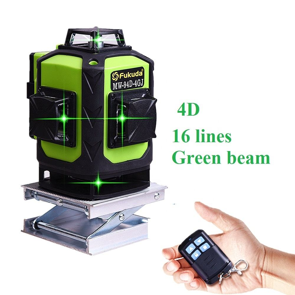 4D Green beam rotary Self-Leveling 360 degree Horizontal&Vertical 16 lines laser level 4d/Fukuda 4D laser level/green level
