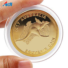 Cheap commemorative 24k gold plated metal souvenir custom coins