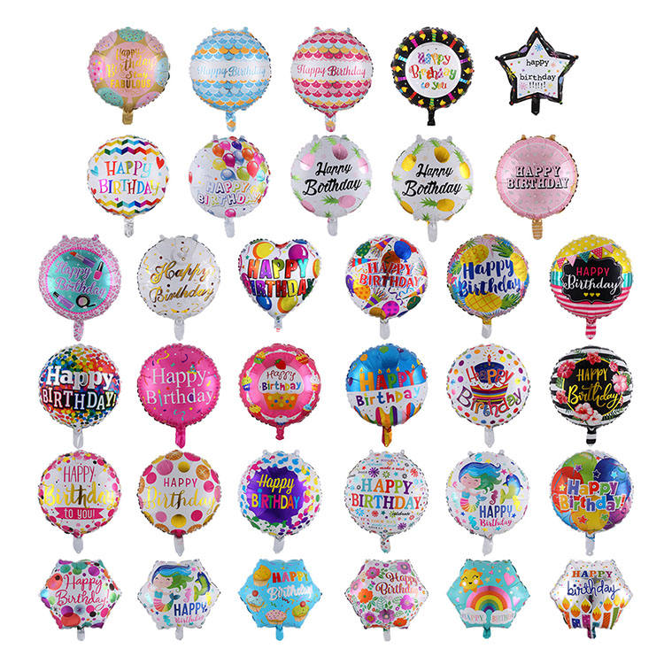 Happy Birthday balloons Round Foil Balloon