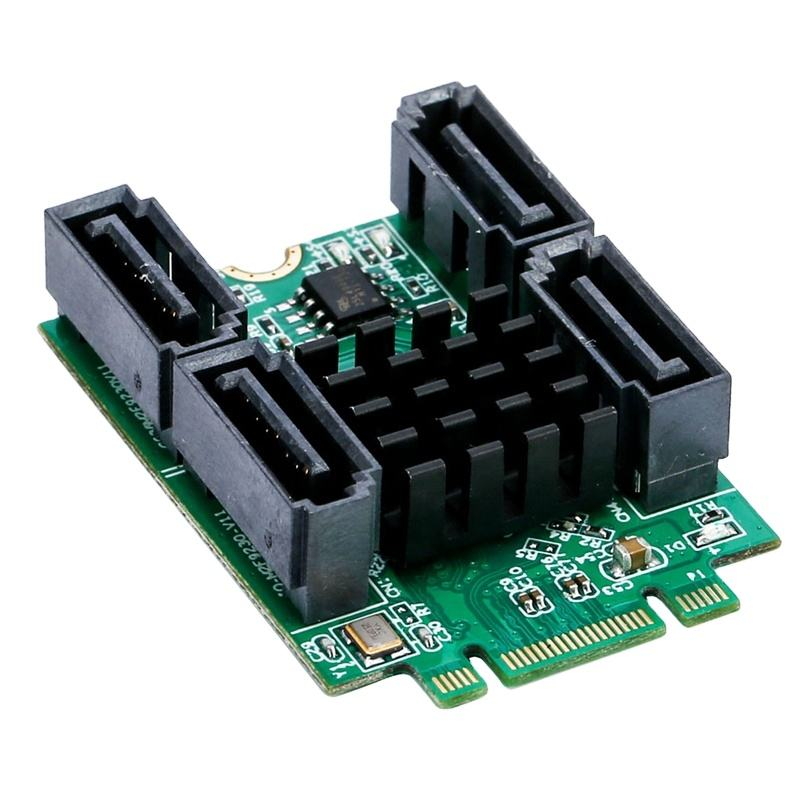 M.2 B + M Key slot to 4 Port SATA 6G Adapter controller Card
