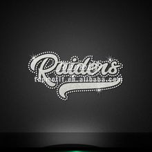 custom transfers sparkle glitter rhinestone transfer for raiders