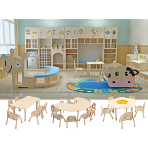 Sale Primary Classroom Center Set Kid Modern Wood Child Pre School Cheap Wooden Nursery Preschool Kindergarten Daycare Furniture