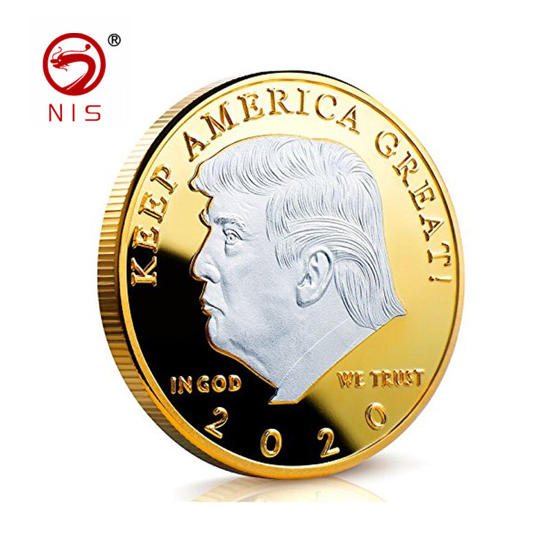 Custom 3D trump goud amerikaanse goedkope metalen blanks metalen uitdaging coin producent