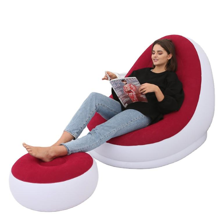 2020 Hot Selling Inflatable Modern Relaxing Chair with Ottoman