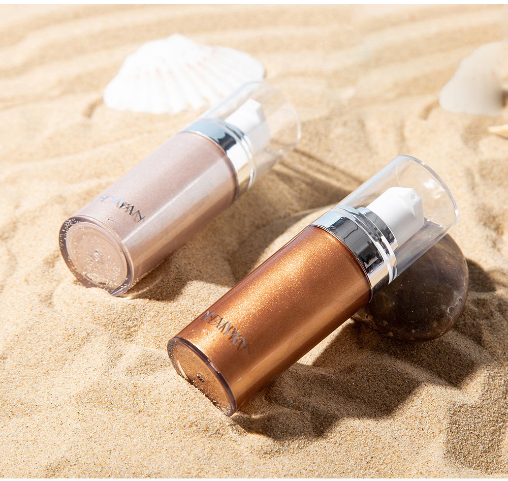 private label cosmetics makeup body liquid shimmerprivate glitter highlighter shimmering cream spray