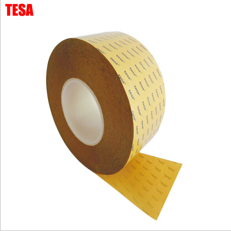 China Manufacturer Tesa 4972 Jumbo Roll Mopp Red Liner Pet Tape Doble sided Polyester Filmic Tape