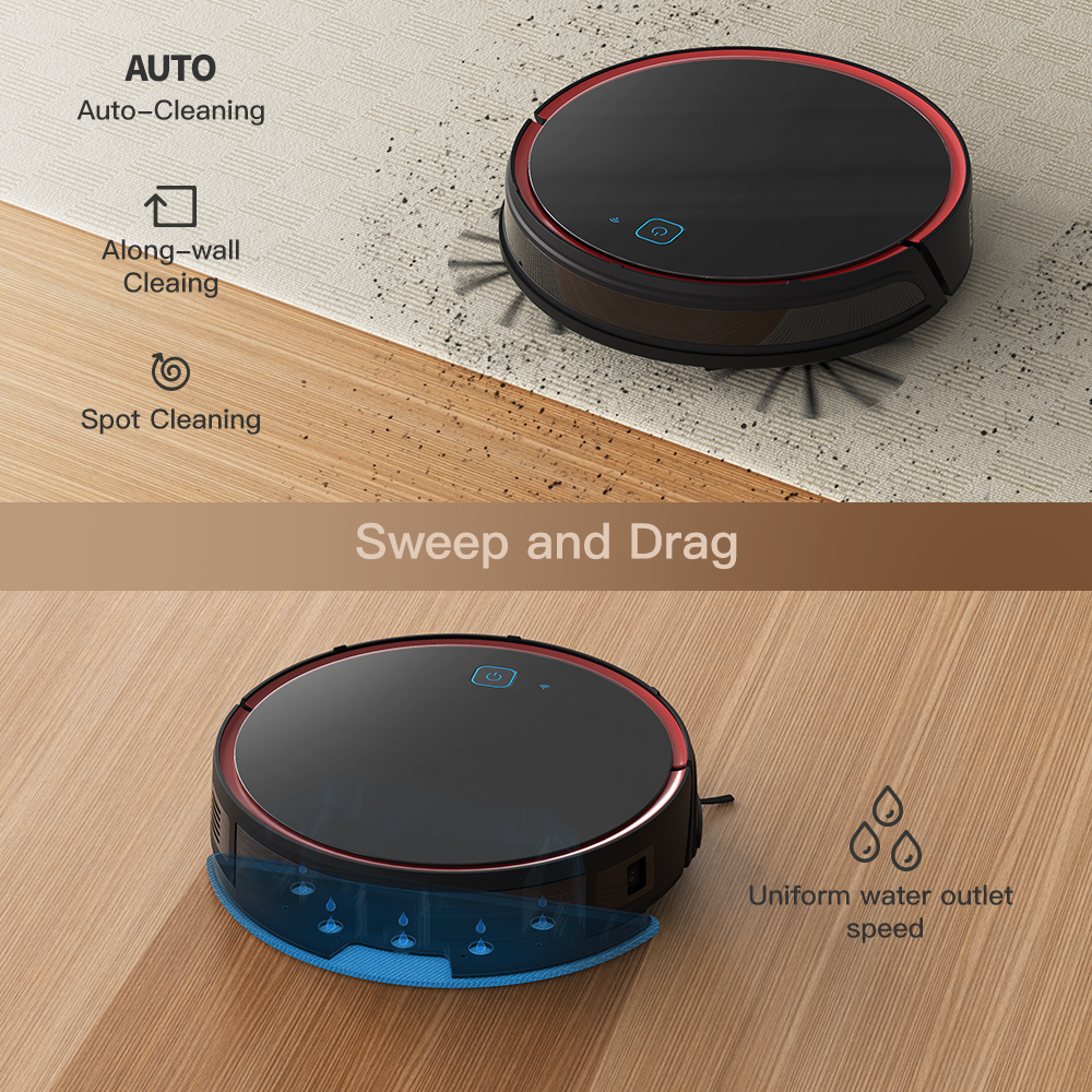 Hot Sale Amazon Alexa With APP/Wifi Low Noise Extra Brushless 2200 Pa Suction For Pet Hair T700 Robot Vacuum Cleaners