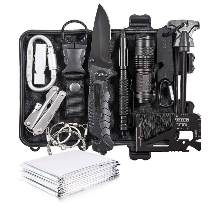 Emergency Survival Kit 13 In 1-Outdoor Survival Apparatuur Tool Voor Outdoor/Travel/Auto/<span class=keywords><strong>Wandelen</strong></span>/camping Apparatuur