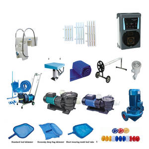 Complete Pool equipment includes pumps, filters, heaters and cleaners, and also chemical feeders and salt chlorine generators