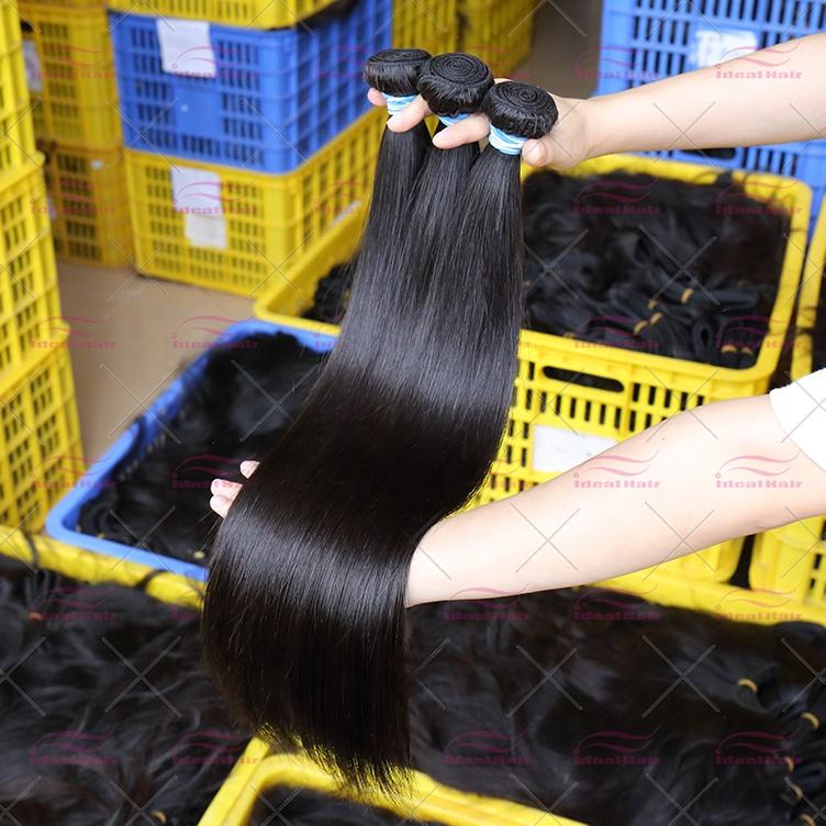 Best Unprocessed 100% remy cuticle aligned hair weave vendor natural temple extension in india wholesale virgin raw indian hair