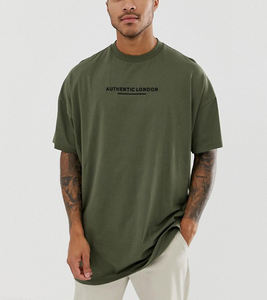 New Style 100%Cotton Dropped Sleeves Crew Neck Oversized Super Longline T-shirt Custom T Shirt