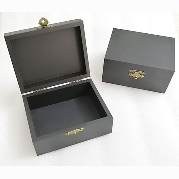 laser engraved black bamboo jewelry gift box packaging jewel gift case box wood