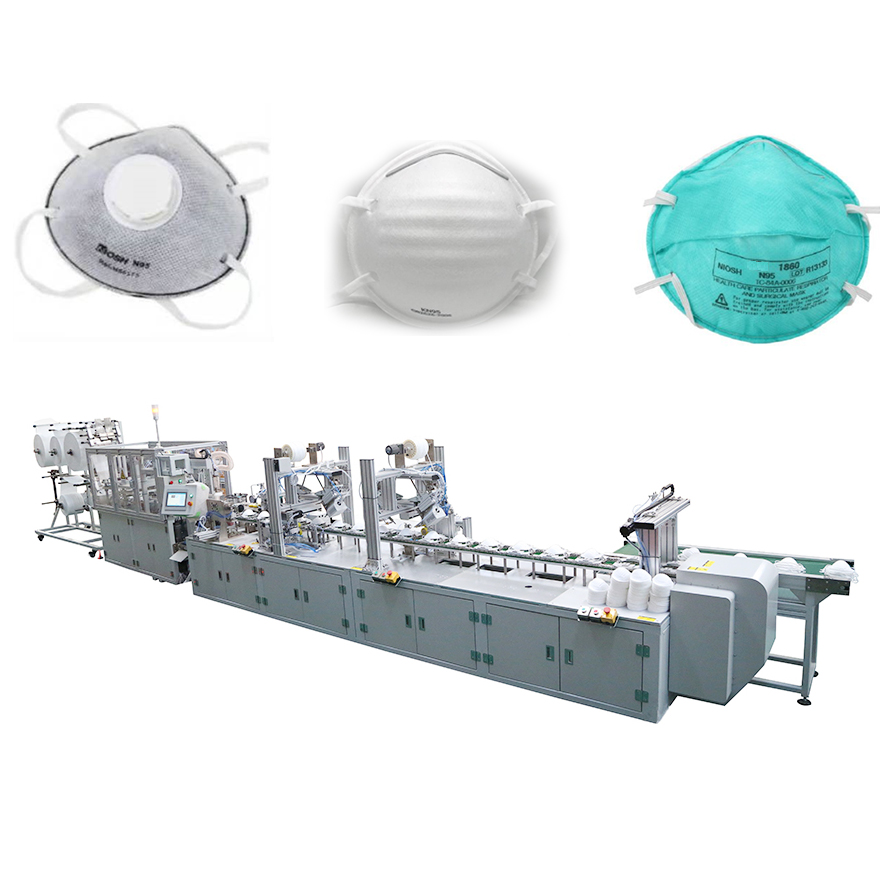 FULLY AUTOMATIC N95 CUP SHAPE FACE MASK MAKING MACHINE