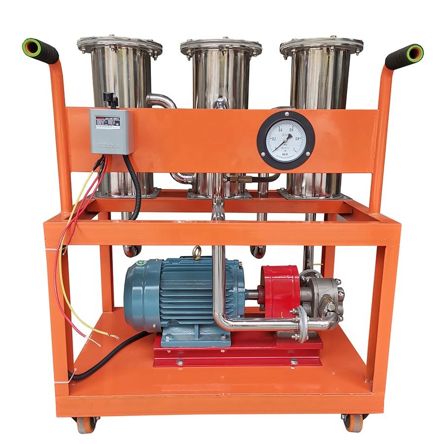 Used Motor Car Oil Cleaning Purifier, Portable Crude Oil Edulcoration Machine Oil Filter JL-III-32