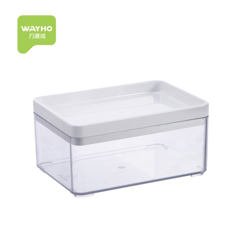 2021 new durable PET plastic material storage box plastic tray with lid for home storage