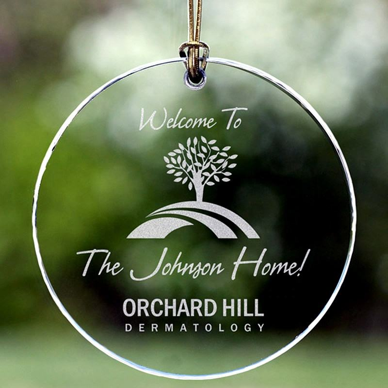 Custom made round christmas hanging K9 glass crystal ornaments
