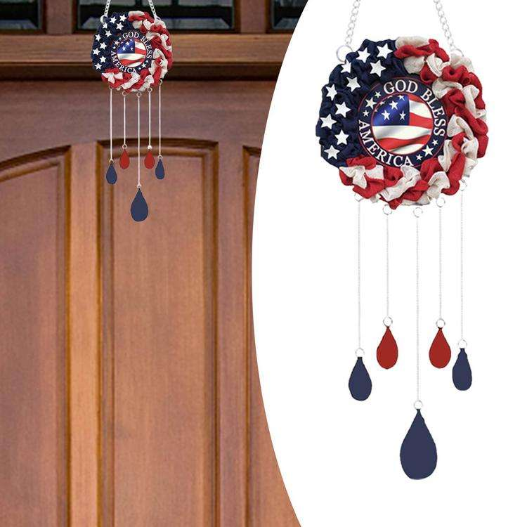 Patriotic Wind Chimes American Independence Day Hanging Windchime Independence Day Wind Chimes United States National Day Decor